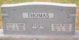 THOMAS, OSCAR BLAINE - Madison County, Arkansas | OSCAR BLAINE THOMAS - Arkansas Gravestone Photos