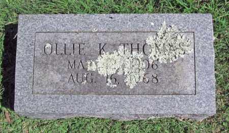 THOMAS, OLLIE K - Madison County, Arkansas | OLLIE K THOMAS - Arkansas Gravestone Photos