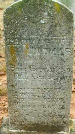 THOMAS, THOMAS W. - Madison County, Arkansas   THOMAS W. THOMAS - Arkansas Gravestone Photos
