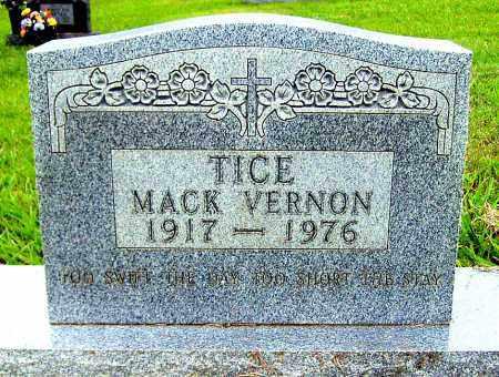 TICE, MACK VERNON - Madison County, Arkansas | MACK VERNON TICE - Arkansas Gravestone Photos