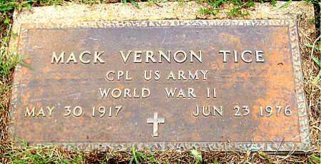 TICE (VETERAN WWII), MACK VERNON - Madison County, Arkansas | MACK VERNON TICE (VETERAN WWII) - Arkansas Gravestone Photos