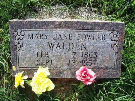 LILE WALDEN, MARY JANE - Madison County, Arkansas | MARY JANE LILE WALDEN - Arkansas Gravestone Photos