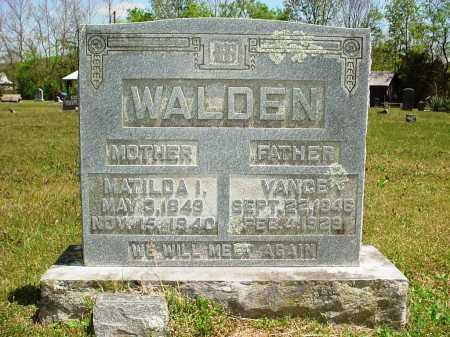 PRESLEY WALDEN, MATILDA I. - Madison County, Arkansas | MATILDA I. PRESLEY WALDEN - Arkansas Gravestone Photos