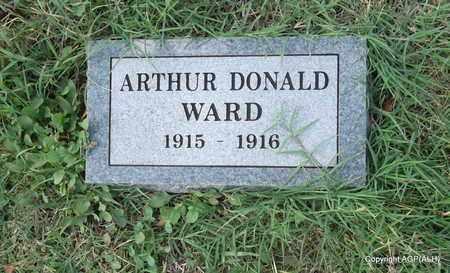 WARD, ARTHUR DONALD - Madison County, Arkansas | ARTHUR DONALD WARD - Arkansas Gravestone Photos