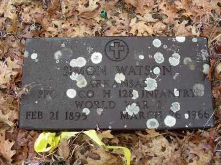 WATSON (VETERAN WWI), SIMON - Madison County, Arkansas   SIMON WATSON (VETERAN WWI) - Arkansas Gravestone Photos