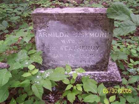 SISEMORE WEATHERBY, ARMILDA - Madison County, Arkansas   ARMILDA SISEMORE WEATHERBY - Arkansas Gravestone Photos