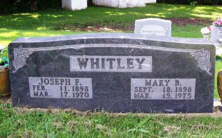 WHITLEY, JOSEPH F. - Madison County, Arkansas | JOSEPH F. WHITLEY - Arkansas Gravestone Photos