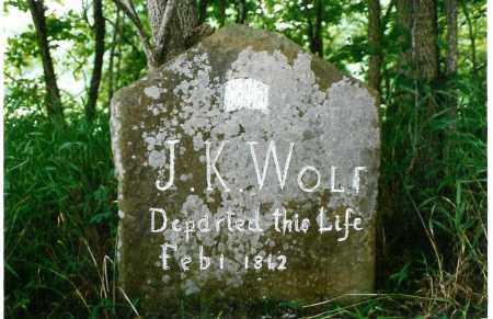 WOLF (VETERAN CSA), J. K. - Madison County, Arkansas   J. K. WOLF (VETERAN CSA) - Arkansas Gravestone Photos