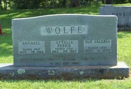 WOLFE, ATTALIA PERRIE - Madison County, Arkansas | ATTALIA PERRIE WOLFE - Arkansas Gravestone Photos