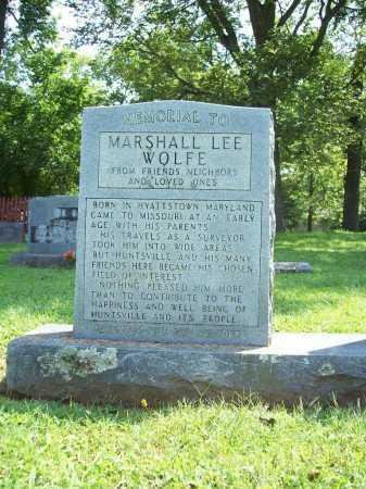 WOLFE MEMORIAL (VETERAN UNION), MARSHALL LEE - Madison County, Arkansas | MARSHALL LEE WOLFE MEMORIAL (VETERAN UNION) - Arkansas Gravestone Photos