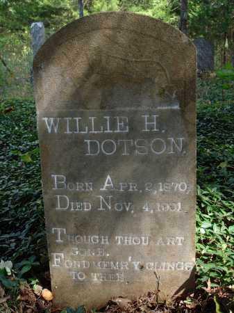 DOTSON, WILLIE H. - Madison County, Arkansas | WILLIE H. DOTSON - Arkansas Gravestone Photos