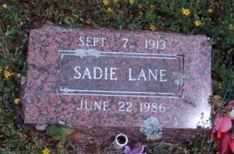 LANE, SADIE - Madison County, Arkansas   SADIE LANE - Arkansas Gravestone Photos