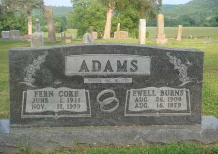 COKE ADAMS, FERN - Marion County, Arkansas | FERN COKE ADAMS - Arkansas Gravestone Photos