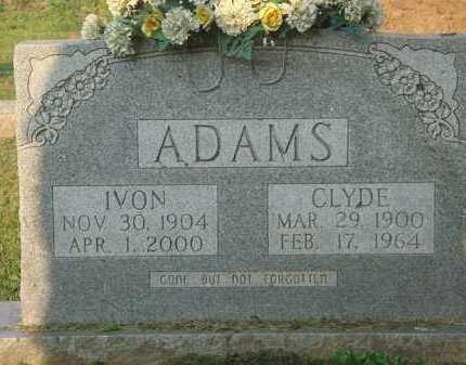 ADAMS, IVON - Marion County, Arkansas | IVON ADAMS - Arkansas Gravestone Photos