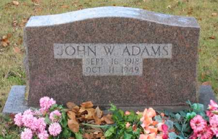 ADAMS, JOHN W. - Marion County, Arkansas | JOHN W. ADAMS - Arkansas Gravestone Photos