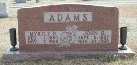 ADAMS, MYRTLE B. - Marion County, Arkansas | MYRTLE B. ADAMS - Arkansas Gravestone Photos