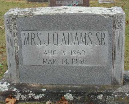 ADAMS, NANCY EMMALINE [MRS. J. Q.] - Marion County, Arkansas | NANCY EMMALINE [MRS. J. Q.] ADAMS - Arkansas Gravestone Photos
