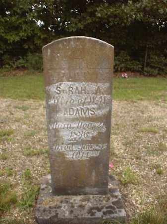 SMITH ADAMS, SARAH ANN - Marion County, Arkansas   SARAH ANN SMITH ADAMS - Arkansas Gravestone Photos
