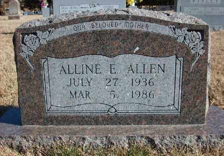 ALLEN, ALLINE E. - Marion County, Arkansas   ALLINE E. ALLEN - Arkansas Gravestone Photos