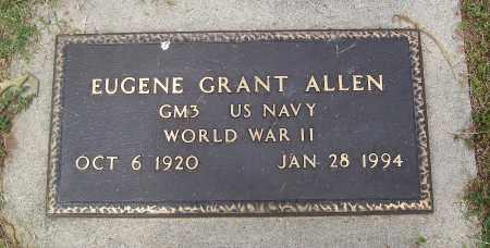 ALLEN (VETERAN WWII), EUGENE GRANT - Marion County, Arkansas | EUGENE GRANT ALLEN (VETERAN WWII) - Arkansas Gravestone Photos