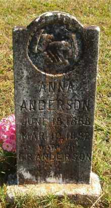ANDERSON, ANNA - Marion County, Arkansas | ANNA ANDERSON - Arkansas Gravestone Photos