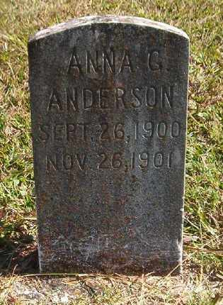 ANDERSON, ANNA G. - Marion County, Arkansas | ANNA G. ANDERSON - Arkansas Gravestone Photos