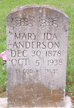 SASSER ANDERSON, MARY IDA - Marion County, Arkansas | MARY IDA SASSER ANDERSON - Arkansas Gravestone Photos