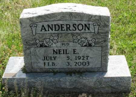 ANDERSON, NEIL E. - Marion County, Arkansas | NEIL E. ANDERSON - Arkansas Gravestone Photos