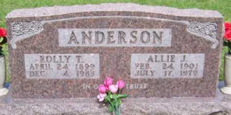 HUSKEY ANDERSON, ALLIE J. - Marion County, Arkansas | ALLIE J. HUSKEY ANDERSON - Arkansas Gravestone Photos