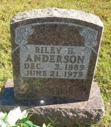 ANDERSON, RILEY H. - Marion County, Arkansas | RILEY H. ANDERSON - Arkansas Gravestone Photos
