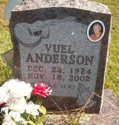 ANDERSON, VUEL - Marion County, Arkansas   VUEL ANDERSON - Arkansas Gravestone Photos