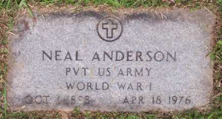 ANDERSON (VETERAN WWI), NEAL - Marion County, Arkansas | NEAL ANDERSON (VETERAN WWI) - Arkansas Gravestone Photos