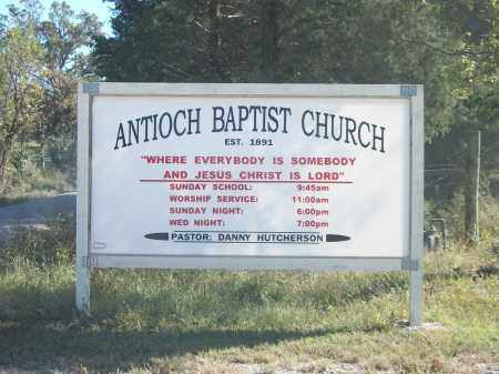 *ANTIOCH BAPTIST CHURCH SIGN,  - Marion County, Arkansas |  *ANTIOCH BAPTIST CHURCH SIGN - Arkansas Gravestone Photos