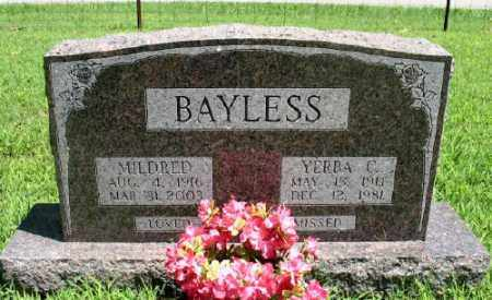 BAYLESS, YERBA C. - Marion County, Arkansas | YERBA C. BAYLESS - Arkansas Gravestone Photos
