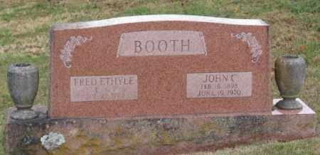 BOOTH, FRED ETHYLE - Marion County, Arkansas | FRED ETHYLE BOOTH - Arkansas Gravestone Photos