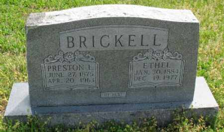 BRICKELL, PRESTON L. - Marion County, Arkansas | PRESTON L. BRICKELL - Arkansas Gravestone Photos