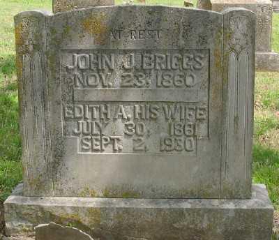 BRIGGS, EDITH A. - Marion County, Arkansas | EDITH A. BRIGGS - Arkansas Gravestone Photos