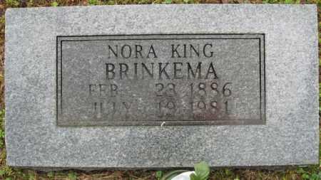 KING BRINKEMA, NORA - Marion County, Arkansas | NORA KING BRINKEMA - Arkansas Gravestone Photos