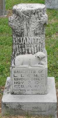 BROOKSHER, JUANITA - Marion County, Arkansas | JUANITA BROOKSHER - Arkansas Gravestone Photos