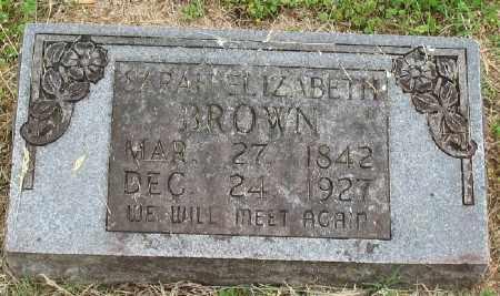 BROWN, SARAH ELIZABETH - Marion County, Arkansas | SARAH ELIZABETH BROWN - Arkansas Gravestone Photos