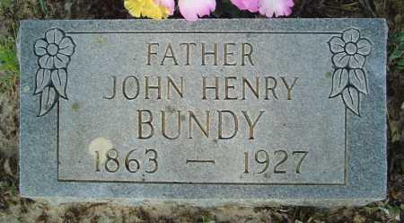BUNDY, JOHN HENRY - Marion County, Arkansas | JOHN HENRY BUNDY - Arkansas Gravestone Photos