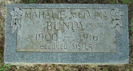 BUNDY, MAHALIE MELVINA - Marion County, Arkansas | MAHALIE MELVINA BUNDY - Arkansas Gravestone Photos