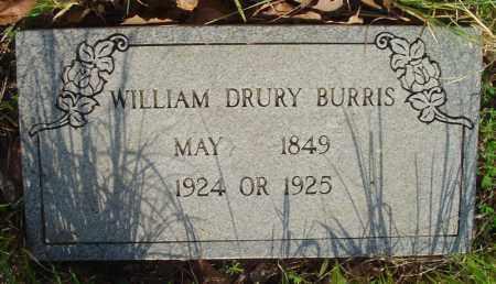 BURRIS, WILLIAM DRURY - Marion County, Arkansas | WILLIAM DRURY BURRIS - Arkansas Gravestone Photos
