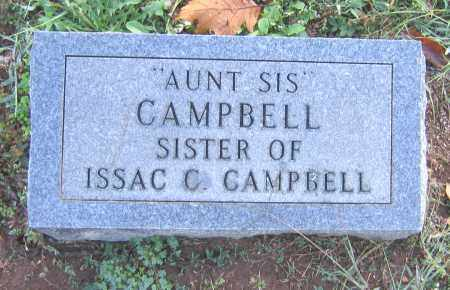 "CAMPBELL, AUNT ""SIS"" - Marion County, Arkansas 