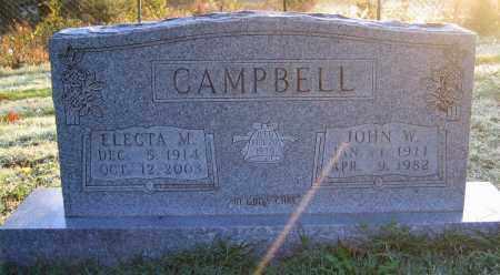 CAMPBELL, JOHN W - Marion County, Arkansas | JOHN W CAMPBELL - Arkansas Gravestone Photos