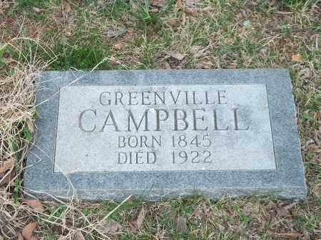 CAMPBELL, GREENVILLE - Marion County, Arkansas   GREENVILLE CAMPBELL - Arkansas Gravestone Photos