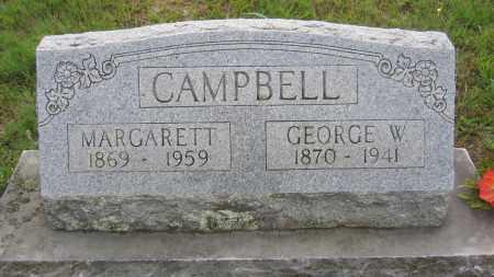 CAMPBELL, GEORGE WASHINGTON - Marion County, Arkansas | GEORGE WASHINGTON CAMPBELL - Arkansas Gravestone Photos