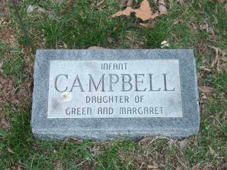 CAMPBELL, INFANT DAUGHTER - Marion County, Arkansas | INFANT DAUGHTER CAMPBELL - Arkansas Gravestone Photos