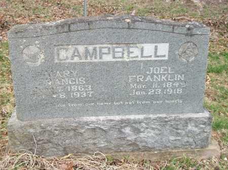 CAMPBELL, JOEL FRANKLIN - Marion County, Arkansas   JOEL FRANKLIN CAMPBELL - Arkansas Gravestone Photos