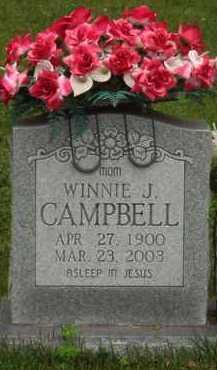 CAMPBELL, WINNIE J. - Marion County, Arkansas | WINNIE J. CAMPBELL - Arkansas Gravestone Photos